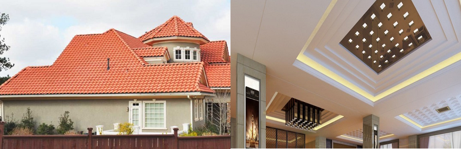 Roofing system and false ceiling styles and design